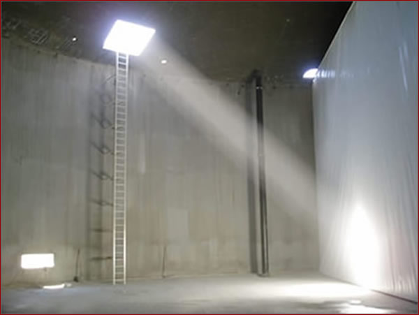 suspended baffle curtain
