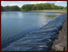 agriculural pond berm erosion liner